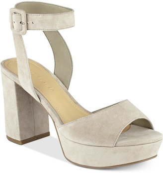 Marc Fisher Meliza Platform Block-Heel Sandals $89 thestylecure.com