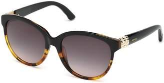 Swarovski Women's Round Cat Eye Embellished-Temple Sunglasses