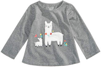 First Impressions Baby Girls Llama-Print Cotton T-Shirt, Created for Macy's