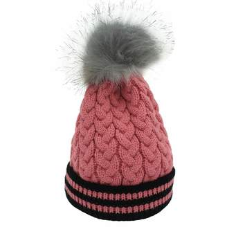 3ae1f1d22d0 QingFang Women Cable Knit Hats Stretch Beanie Warm Windpoof Skiing Caps  Skully Cap Soft Winter Hat