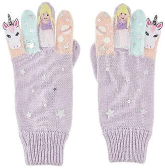 Monsoon Girls' Purple Unicorn Fairy Novelty Gloves