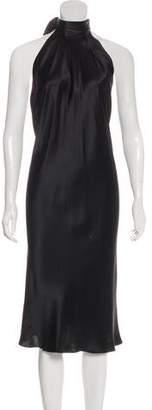 Dolce & Gabbana Silk Halter Midi Dress