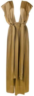 Lanvin draped front dress