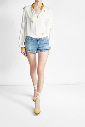 Castaer Cotton Espadrille Wedges $89 thestylecure.com