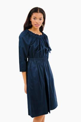 Rebecca Taylor La Vie by Midnight Navy Sateen Bow Dress