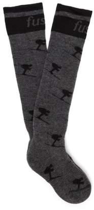 Fusalp - Long Wool Blend Ski Socks - Womens - Grey Multi