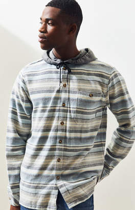 Billabong Baja Striped Hooded Flannel Shirt