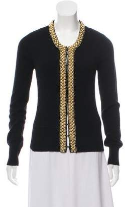 Milly Embellished Cashmere Top