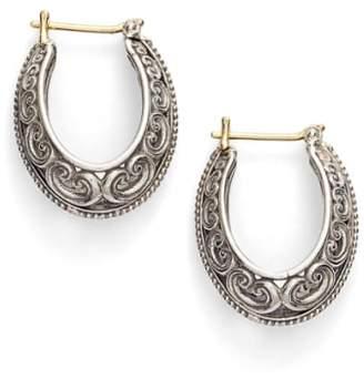 Konstantino 'Penelope' Filigree Hoop Earrings
