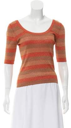 Sonia Rykiel Silk Blend Striped Top