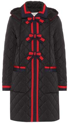 Gucci Quilted coat with Web bows