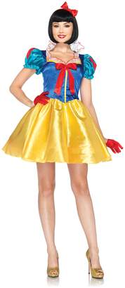 Leg Avenue Disney 2Pc. Classic Snow White Costume Dress with Bow Head Piece