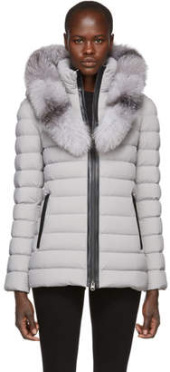 Mackage Grey Kadalina-X Lightweight Down Jacket