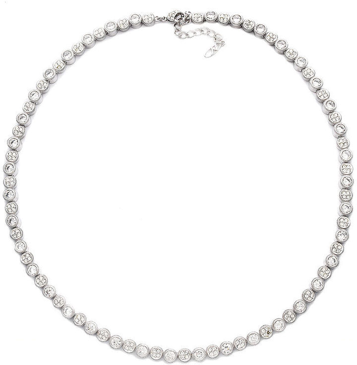 Eliot Danori Necklace, Pave Crystal and Cubic Zirconia Collar Necklace (9-1/2 ct. t.w.)
