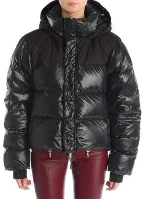 Taverniti So Ben Unravel Project Hooded Puffer Jacket