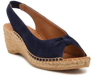 Andre Assous Lace Slingback Wedge Sandal