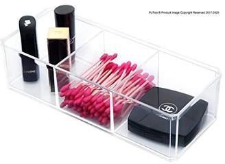 PuTwo Makeup Organizer Bathroom Storage Tray Acrylic Makeup Organizer Cosmetic holder - 3 Section