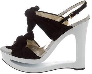 Valentino Suede Multistrap Sandals