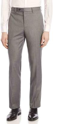 Calvin Klein Grey Sharkskin Stretch Slim-Fit Suit Pants