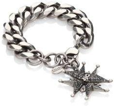 Alexander McQueenAlexander McQueen Swarovski Crystal & Faux-Pearl Cross Medallion Chain Bracelet