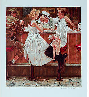 Rockwell Max Munn After the Prom by Norman