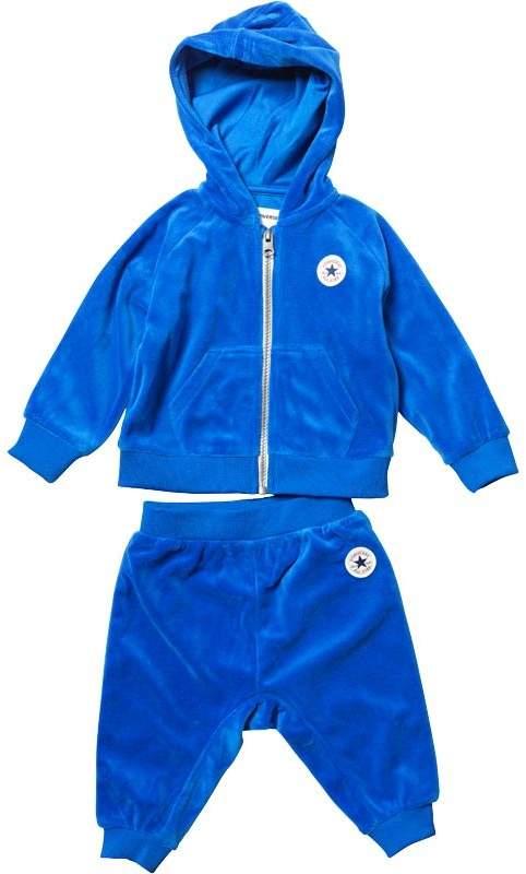 Baby Jungen CTP Velour Kapuzentop & Jogginghosen Blau
