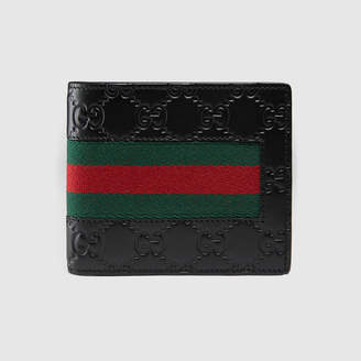 9c5b06f9ba1d Gucci Signature Web wallet with ID window
