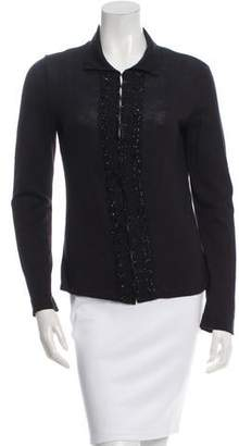 Alberta Ferretti Embellished Long Sleeve Cardigan
