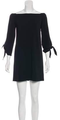 Tibi Off-The-Shoulder Mini Dress