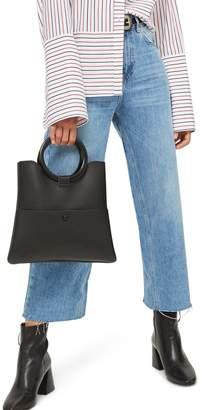 Topshop Crop Wide Leg Jeans