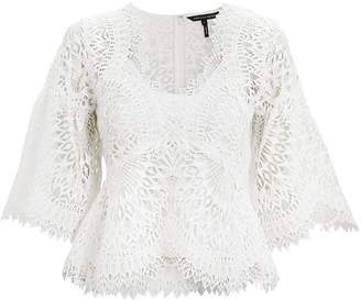 Marissa Webb Rowan White Lace Top