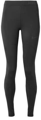 Nike Pro Hyperwarm Perforated Stretch Leggings - Black