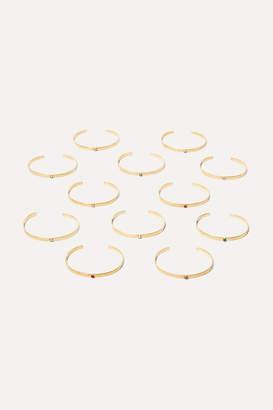 Chan Luu Birthstone Gold-plated Swarovski Crystal Cuff - July