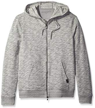 John Varvatos Men's 2-Way Zip Hooded Sweater