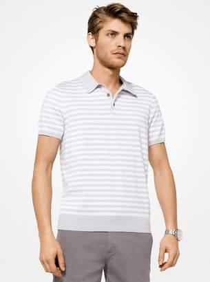 Michael Kors Striped Cotton Polo Shirt