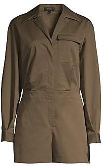 Theory Women's Utility Shirt Romper