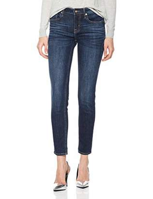 Denim Bloom Women's Super Skinny Jeans Black Wash Mid Waist Super Strecth Jeans Black 31X26