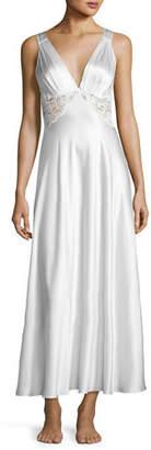 Christine Designs Antique Silk Nightgown, Silver $345 thestylecure.com