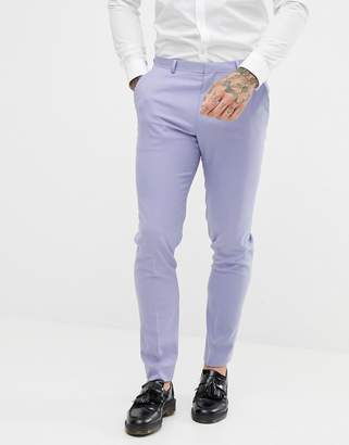 Asos DESIGN skinny suit pants in lilac