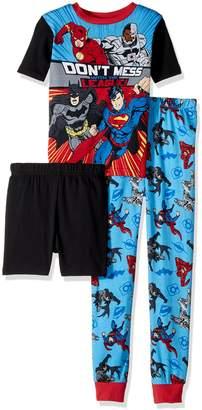 Justice League Big Boys' 3-Piece Cotton Pajama Set
