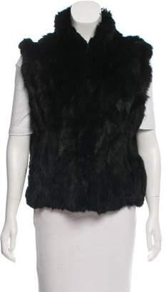 Rebecca Minkoff A-Line Rabbit Fur Vest