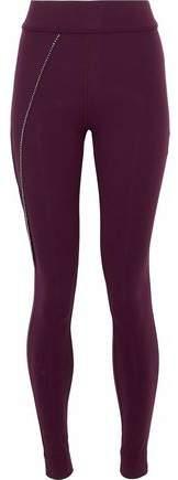 Bead-Embellished Stretch Leggings