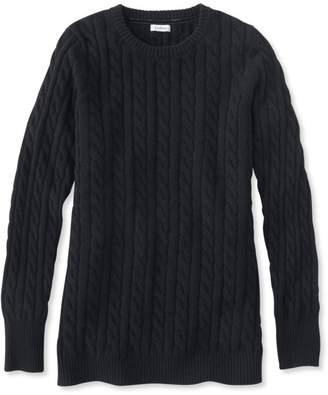 L.L. Bean L.L.Bean Classic Cashmere Sweater, Cable Crewneck