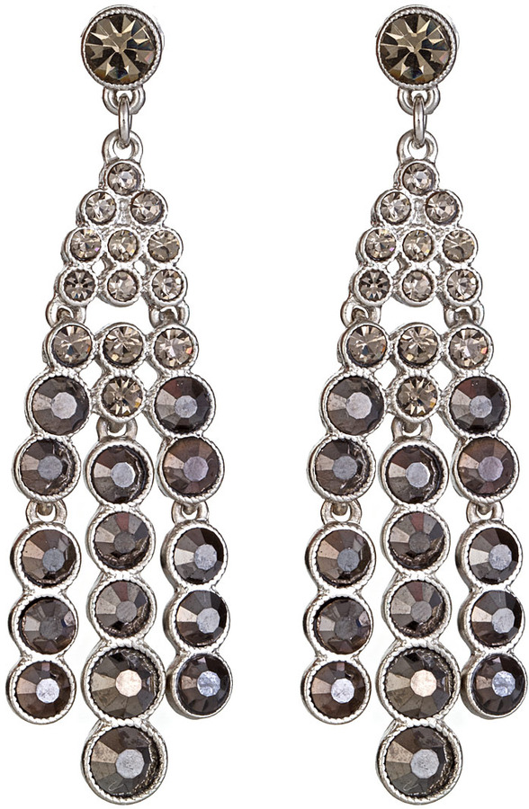 Kenneth Jay Lane Black Diamond Chandelier Earrings