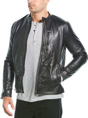 John Varvatos Racer Leather Jacket