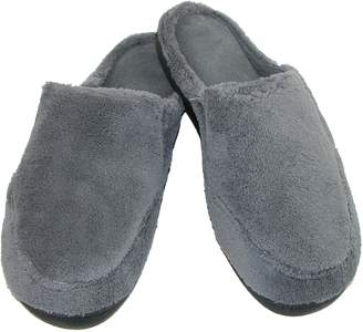 Isotoner Mens Microterry Clog Slippers (Charcoal, XL 11-12)