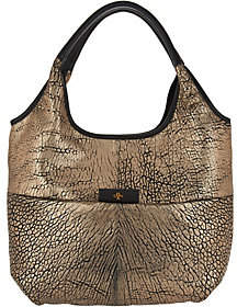 Nobrand NO BRAND orYANY Metallic Lamb Leather Tote Bag- April