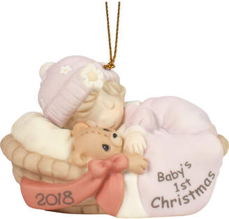Precious Moments Baby Girl First Christmas 2018 Dated Ornament