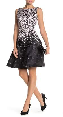 Gabby Skye Ombre Dot Sleeveless Dress