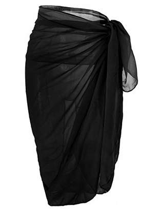Ayliss Womens Swimwear Chiffon Cover up Solid Color Beach Sarong Swimsuit Wrap